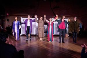 Kairos Italy Theater (KIT) company in their performance of Niccolo Machiavelli's comedy, La Mandragola (The Mandrake), November 2016