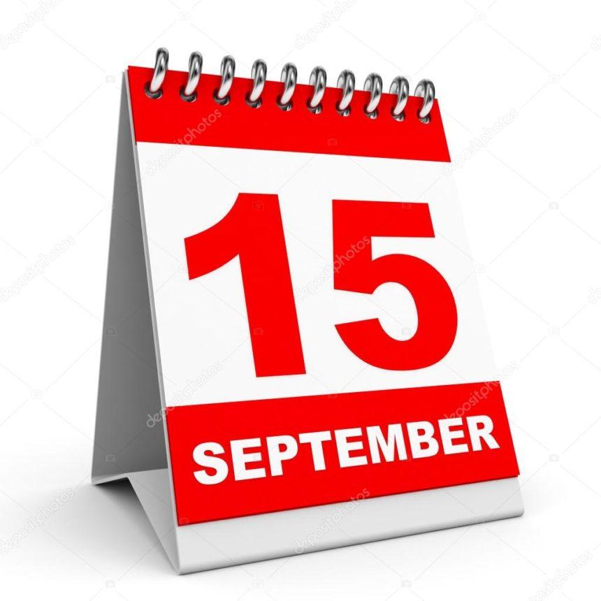 Deadline September 15