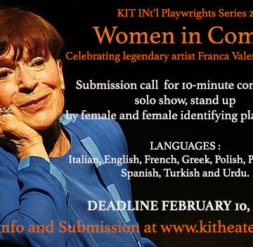 The submission for KIT INT'l Playwrights Series 2020 is open